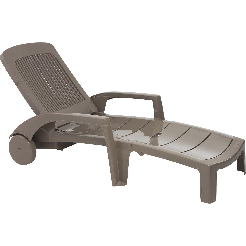 Chaise Longue Pour Balcon Tectake chaise longue bain de soleil